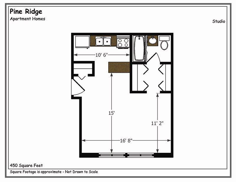 Studio Floor Plan 3