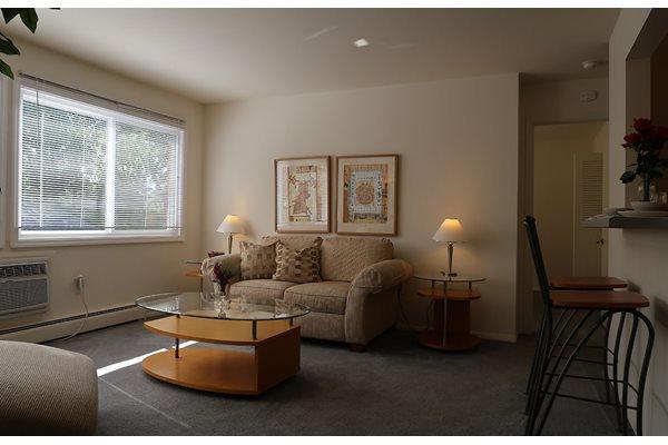 Contemporary Living Room at Pine Ridge, Moline, Illinois