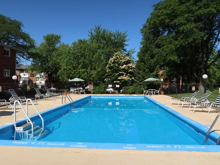 Pool at Pine Ridge Apartments in Moline Illinois