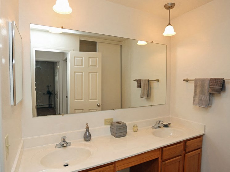 Bathroom at Kensington Pointe Apartments in Madison Wisconsin