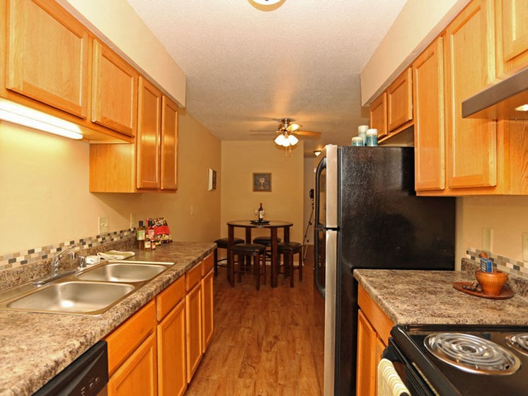 Kitchen at Kensington Pointe Apartments in Madison Wisconsin