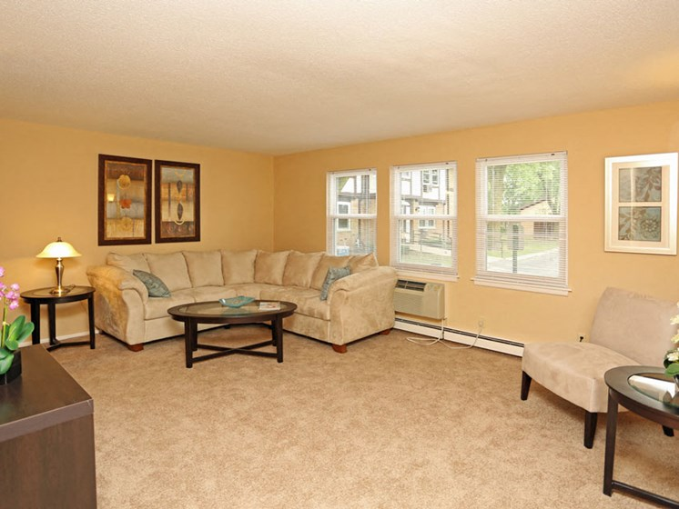 Living Room at Kensington Pointe Apartments in Madison Wisconsin
