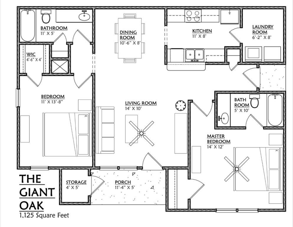 Cypress Pointe Apartments In Tallahassee Florida 32309 Two Bedroom Floor  Plan