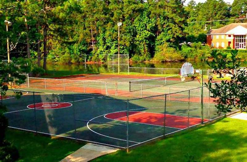 Cypress Pointe Apartment Homes Tallahassee, FL 32309  Illuminated Tennis Court and basketball court
