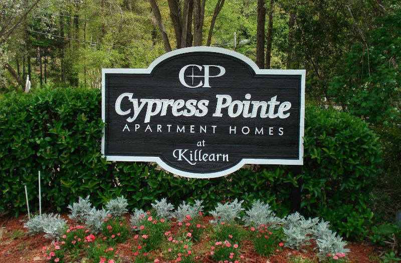 Cypress Pointe Apartment Homes Tallahassee, FL Entrance sign