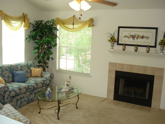 Plantations at Killearn Apartment Tallahassee, FL 32309 cozy fireplace in select units