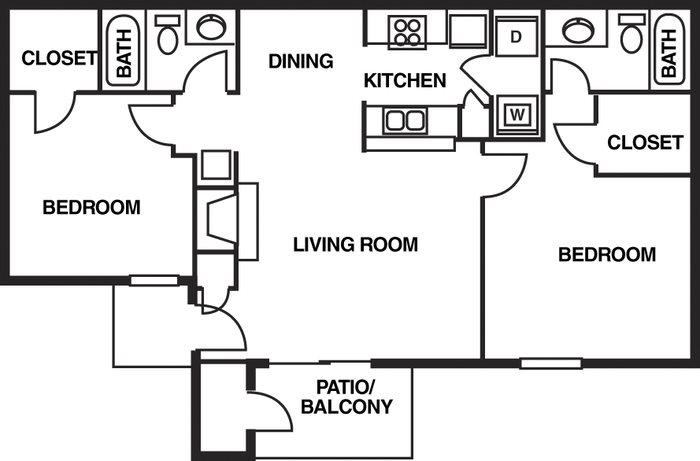 Augustine Club Apartment Homes Tallahassee FL 32301 2 Bedroom 2 Bathroom