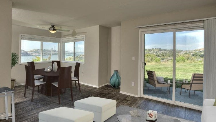 Living Room and Dining l Seabridge at Glen Cove Apartments in Vallejo, CA