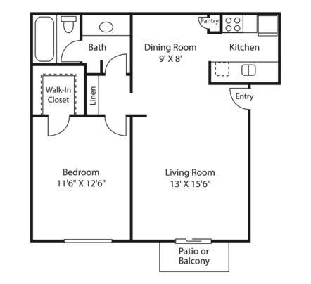 crest floor plan | Avesta Altura Apartments in Riverside Austin, Tx