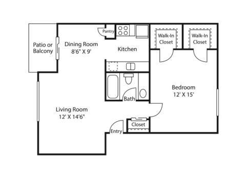 vertex floor plan | Avesta Altura Apartments in Riverside Austin, Tx