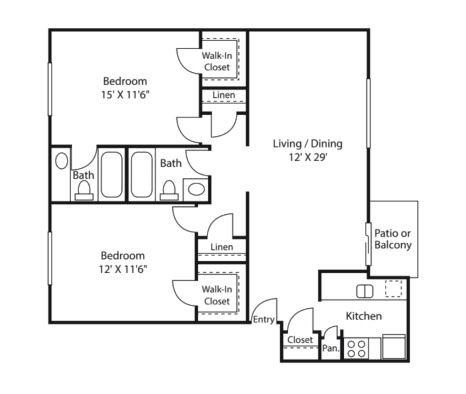 zenith floor plan | Avesta Altura Apartments in Riverside Austin, Tx
