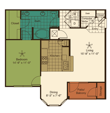 one bedroom luxury pearland apartments