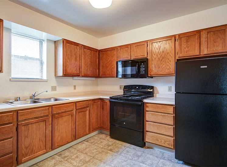 Kitchen at Lake Oaks Apartments