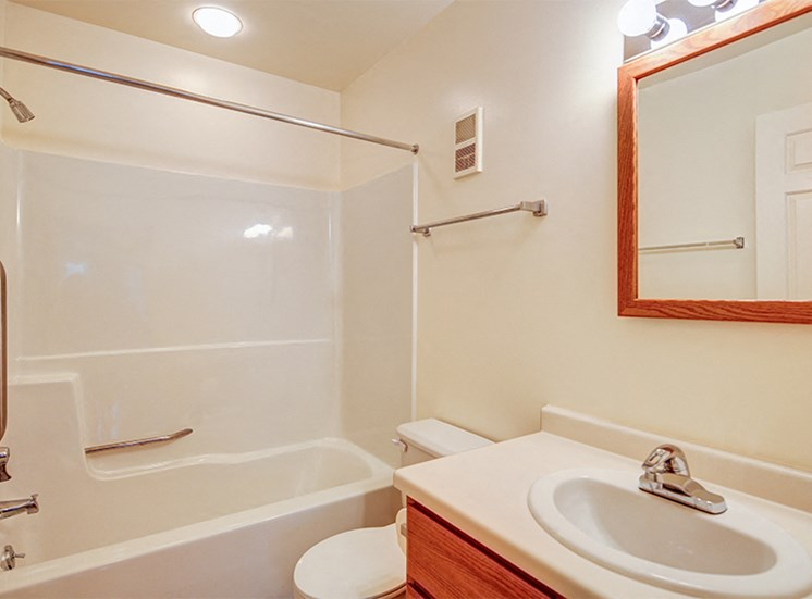 Two Bedroom Apartment Style Master Bathroom at Lake Oaks Apartments
