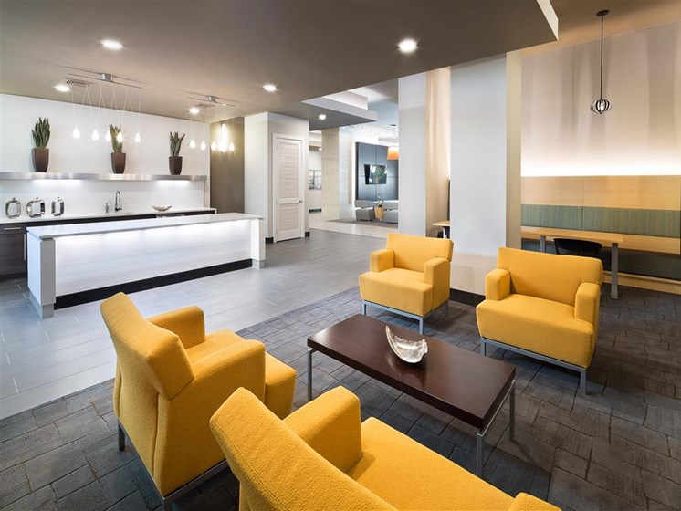 Lounge Area In Clubhouse at The Edison Lofts Apartments, Raleigh, NC, 27601