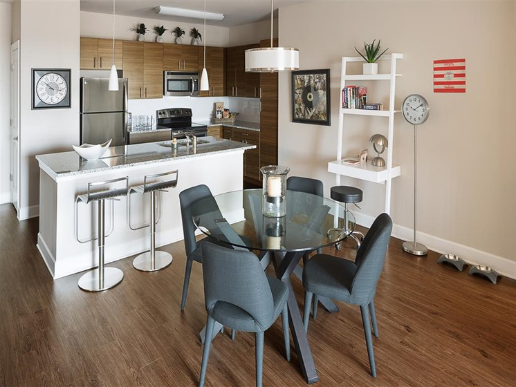 Eat-in Kitchen Table at The Edison Lofts Apartments, North Carolina, 27601