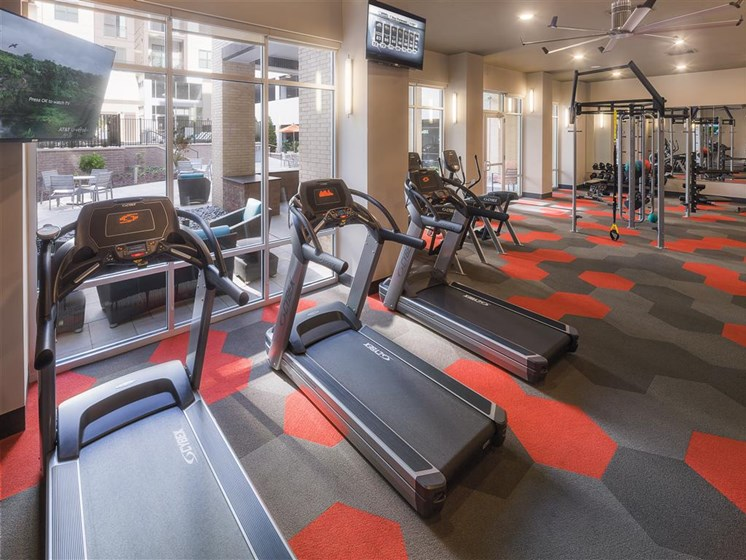 State of the Art Fitness Center at The Edison Lofts Apartments, Raleigh