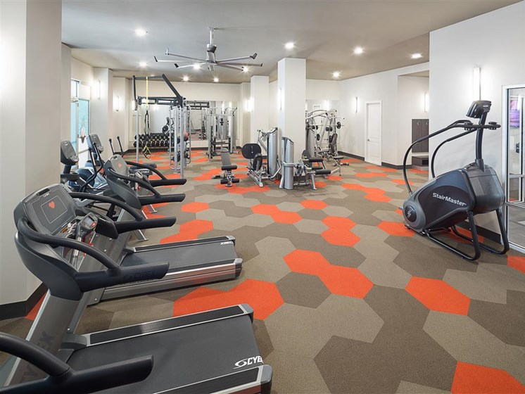 Fitness Center at The Edison Lofts Apartments, North Carolina