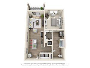 1 Bedroom 1 Bath A11a