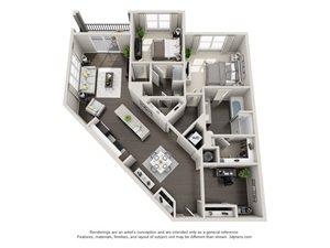 2 Bedroom 2 Bath B7