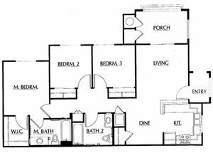 Square Feet Apartment Floor Plans Square Feet Cottage Plan