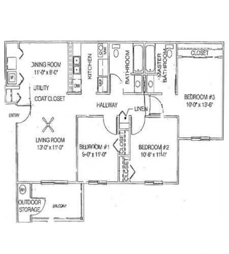 Three Bedroom/Two Bathroom