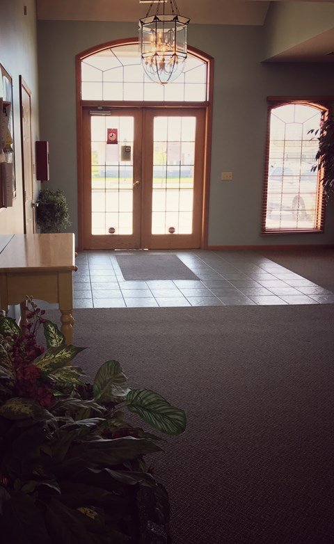 Inviting Clubhouse Foyer