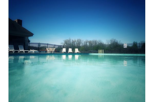 Sparkling Swimming Pool at Green Briar in Burton, MI