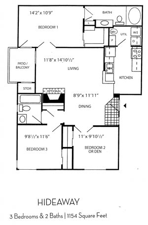 Indigo Creek Apartment Homes - 3 Bedroom 2 Bath Apartment