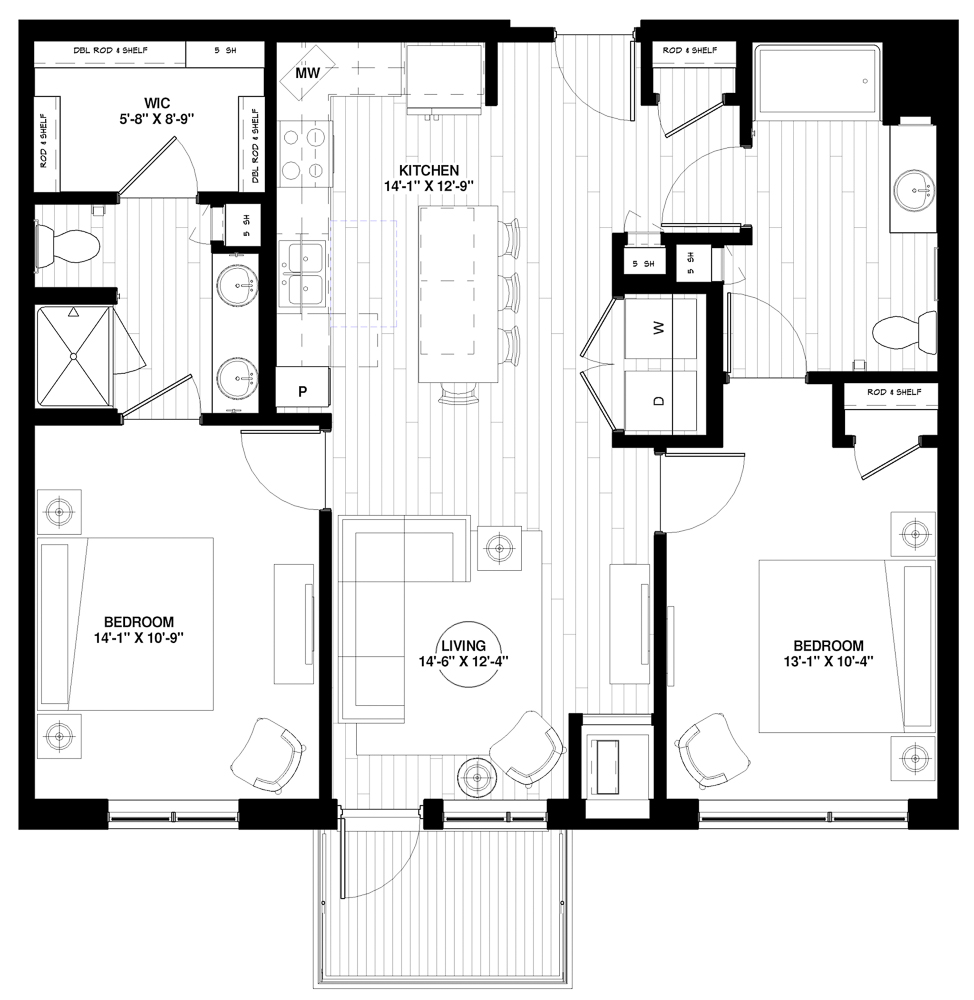 B2 Type A floor plan