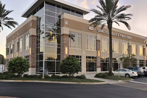 Exterior of Gainesville Health & Fitness Center near The Flats at Tioga Town Center
