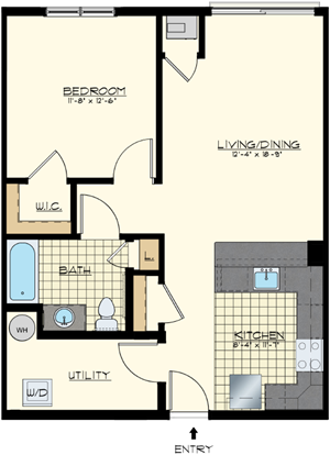 Brand new one bedroom apartment for lease