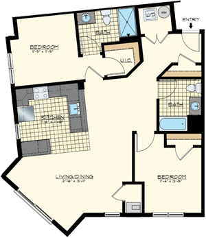 Brand new two bedroom apartment for lease
