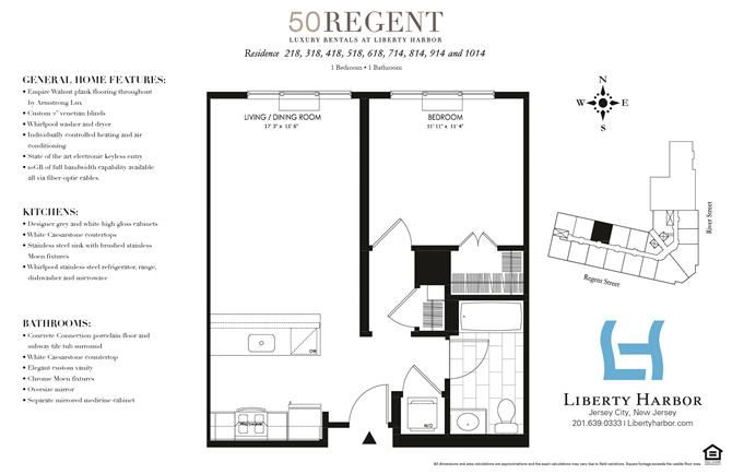 50 REGENT-1 BEDROOM PLAN O