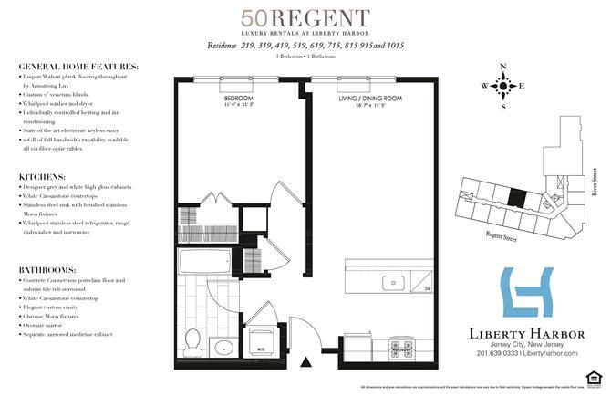 50 REGENT-1 BEDROOM PLAN P