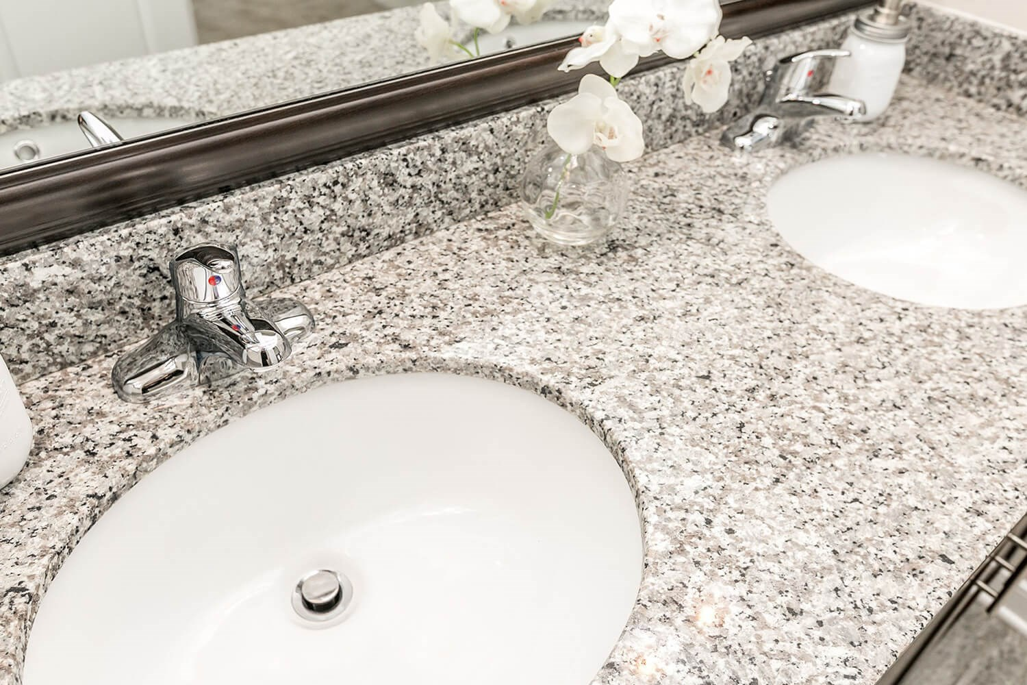 Designer Granite Countertops in all Bathrooms at Townes at Pine Orchard, Ellicott City
