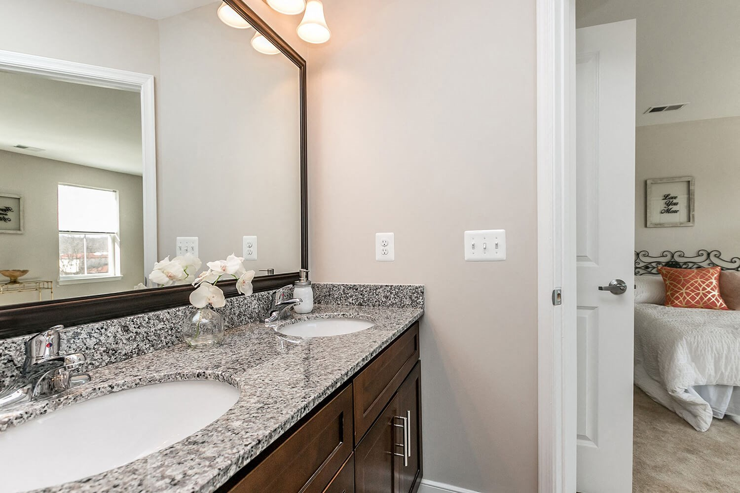 Master Bedroom with Ensuite Spa-inspired bathrooms at Townes at Pine Orchard, Ellicott City, MD 21042