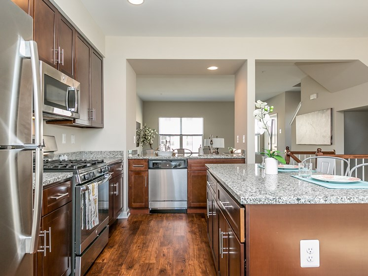 Solid wood shaker-style cabinetry at Townes at Pine Orchard, Maryland 21042