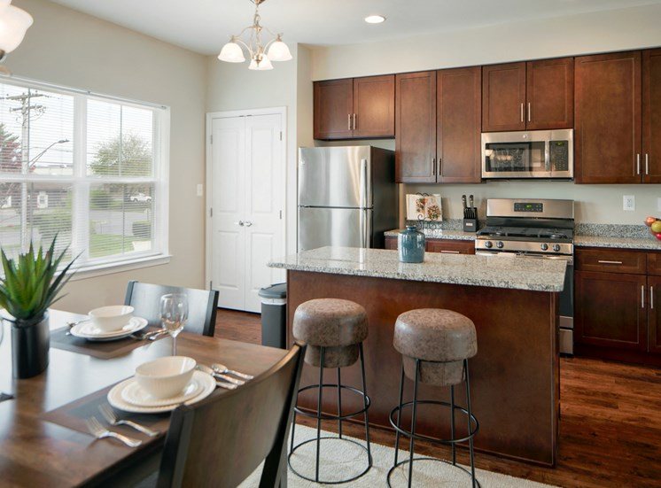 Spacious Kitchen with Pantry Cabinet at Townes at Pine Orchard, Ellicott City, MD 21042