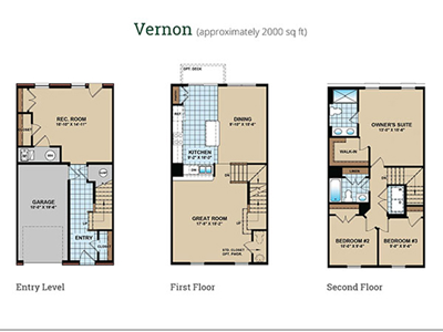 Floor Plan at Townes at Pine Orchard