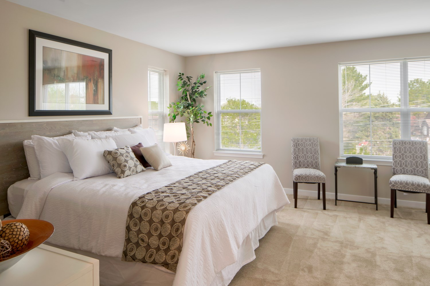 Live in cozy bedrooms at Townes at Pine Orchard, Ellicott City, MD