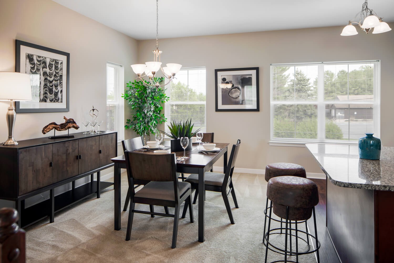 Gourmet Kitchens with Islands, Caesarstone Countertops, and Decorative Backsplash at Townes at Pine Orchard, Maryland 21042