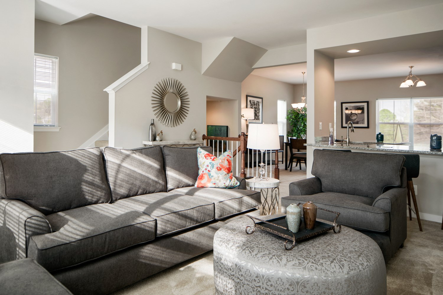Newly Renovated Living Room at Townes at Pine Orchard, Ellicott City
