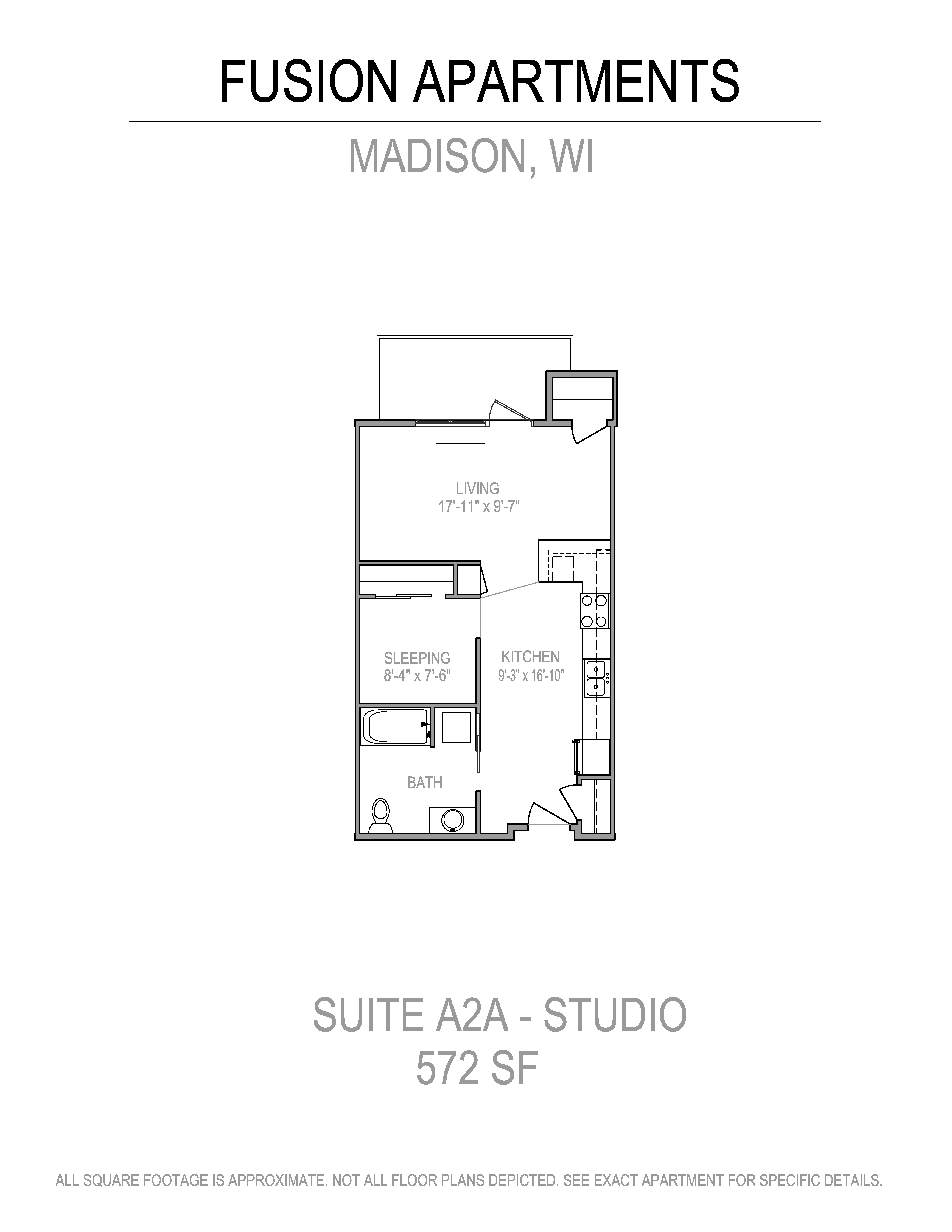 Floor Plans of Fusion at 841 in Madison, WI