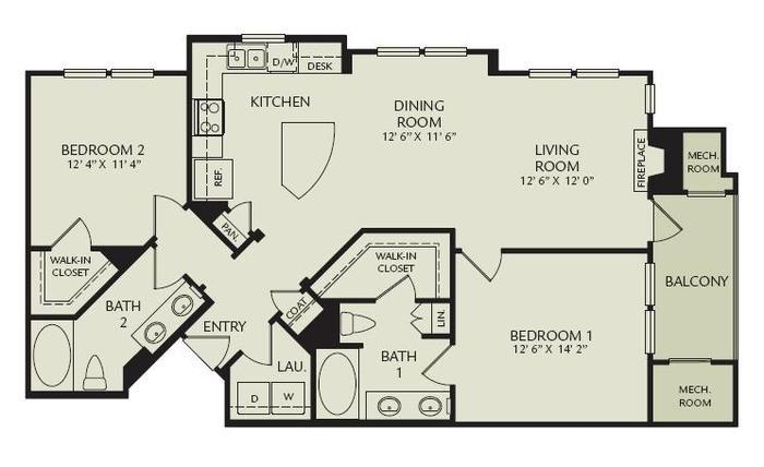 B1D - The Thalia Floor Plan 7