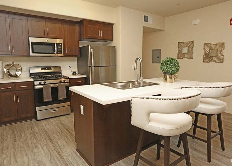 Kitchen and Dining l Luxe Ripon Apartments for rent in Ripon CA