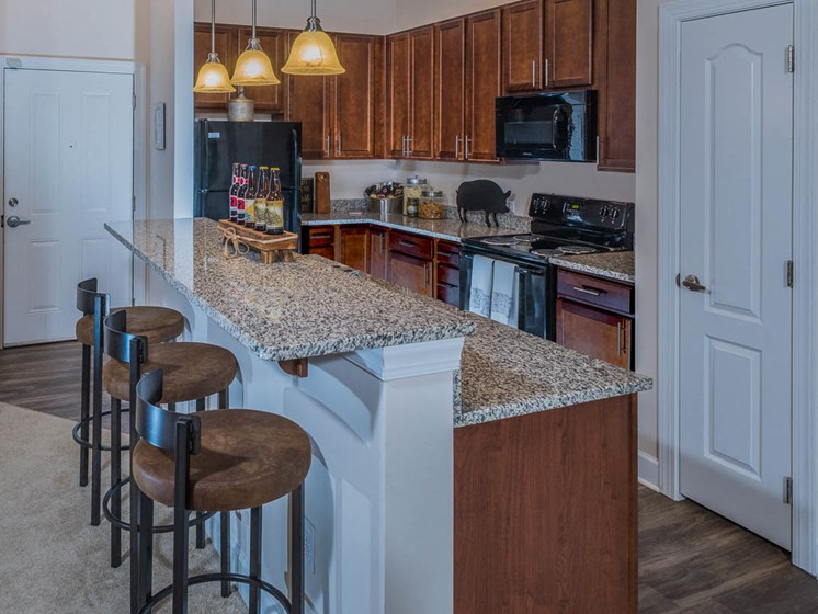 Wood Plank Flooring In Kitchens at Abberly Waterstone Apartment Homes by HHHunt, Stafford, 22554