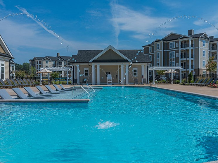 Resort-Style Pool at Abberly Waterstone Apartment Homes, Stafford, Virginia