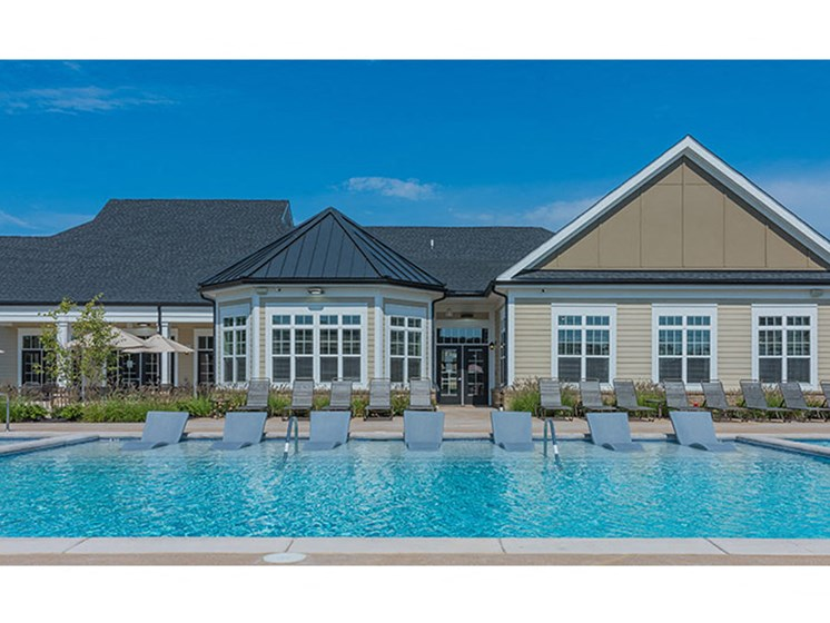Glimmering Pool at Abberly Waterstone Apartment Homes, Virginia