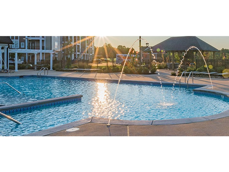 Crystal Clear Swimming Pool at Abberly Waterstone Apartment Homes, Stafford, VA, 22554